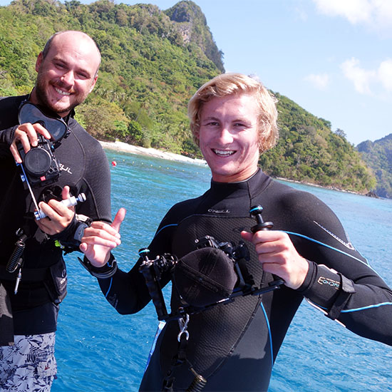 Happy People Happy Student Happy Instructor Underwater Videography Underwater Photography Course El Nido Palawan Philippines Paradise Discover Scuba Diving Discover El Nido Sea Famous Dive Sites Famous Tourist Spots Island